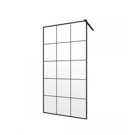 Radaway Modo New Black II Ścianka prysznicowa Walk-In 50x200 cm profile czarne szkło Factory 389054-54-55