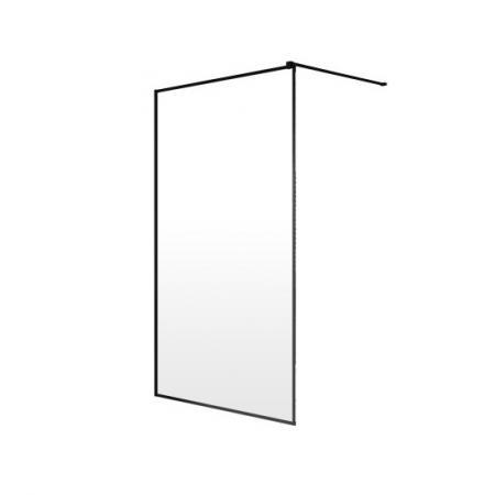 Radaway Modo New Black II Ścianka prysznicowa Walk-In 120x200 cm profile czarne szkło Frame 389124-54-56