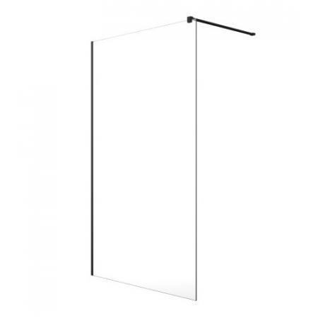 Radaway Modo New Black II Ścianka prysznicowa Walk-In 120x200 cm profile czarne szkło przezroczyste 389124-54-01
