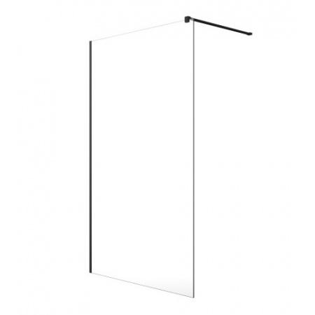 Radaway Modo New Black II Ścianka prysznicowa Walk-In 130x200 cm profile czarne szkło przezroczyste 389134-54-01