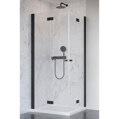 Radaway Nes Black KDD B Kabina prysznicowa prostokątna 80x80x200 cm, profile czarne szkło przezroczyste EasyClean 10024080-54-01L+10024080-54-01R