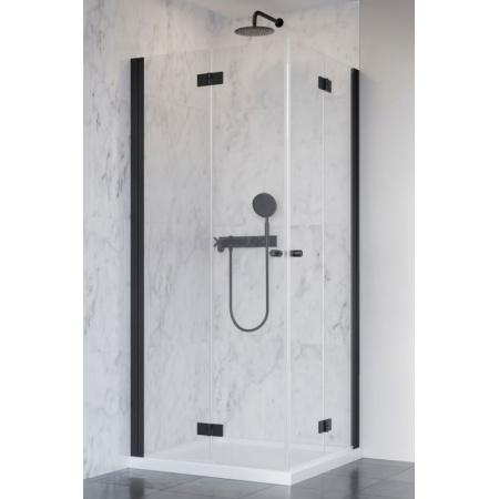 Radaway Nes Black KDD B Kabina prysznicowa prostokątna 80x90x200 cm, profile czarne szkło przezroczyste EasyClean 10024080-54-01L+10024090-54-01R