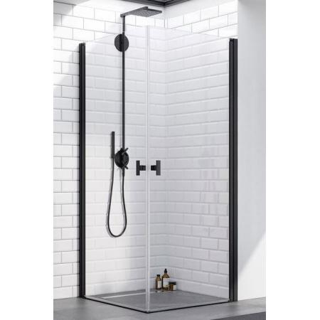 Radaway Nes Black KDD I Kabina prysznicowa prostokątna 80x80x200 cm, profile czarne szkło przezroczyste EasyClean 10021080-54-01L+10021080-54-01R