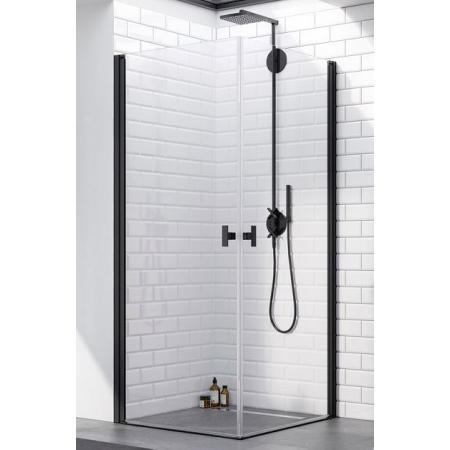 Radaway Nes Black KDD I Kabina prysznicowa prostokątna 90x80x200 cm, profile czarne szkło przezroczyste EasyClean 10021090-54-01L+10021080-54-01R