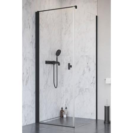 Radaway Nes Black KDJ I Drzwi prysznicowe uchylne 80x200 cm lewe, profile czarne szkło przezroczyste z powłoką Easy Clean 10022080-54-01L