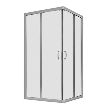 Radaway Premium Plus C Kabina prysznicowa kwadratowa 90x90x190 cm profile chrom szkło Fabric 30453-01-06N
