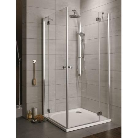 Radaway Torrenta KDD Kabina prysznicowa 90x90x185 cm, profile chrom, szkło przejrzyste z powłoką EasyClean 32252-01-01N