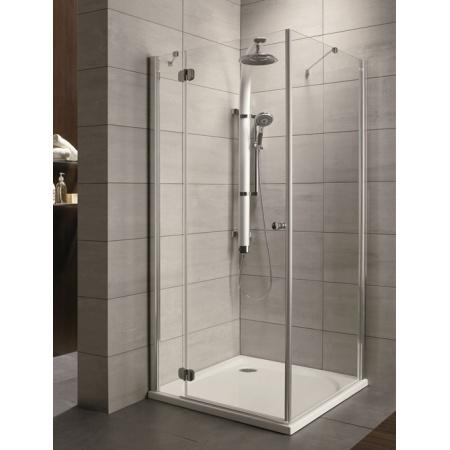 Radaway Torrenta KDJ Kabina prysznicowa 90x75x185 cm, wersja lewa, profile chrom, szkło przejrzyste z powłoką EasyClean 32248-01-01NL
