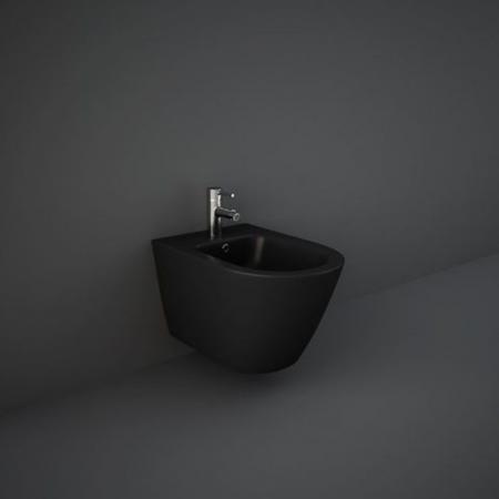 RAK Ceramics Feeling Bidet podwieszany 52x36 cm czarny mat RST07504A