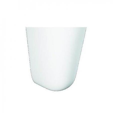 RAK Ceramics Morning Półpostument biały lśniący MORHP2500AWHA