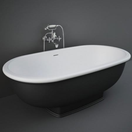 RAK Ceramics Washington Wanna wolnostojąca 156x81 cm czarny mat WTBT15681504