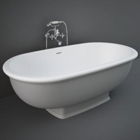 RAK Ceramics Washington Wanna wolnostojąca 156x81 cm szary mat WTBT15681503