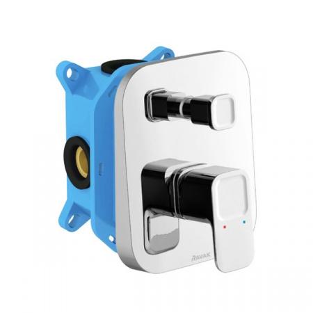 Ravak 10° Jednouchwytowa bateria wannowo-prysznicowa podtynkowa z przełącznikiem, chrom X070070