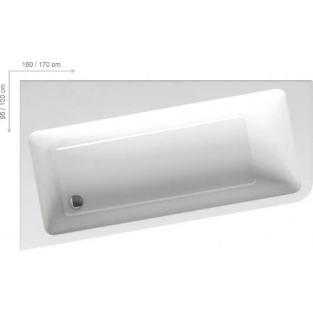 Ravak 10º Wanna narożna 160x95x44 cm akrylowa prawa, biała C841000000
