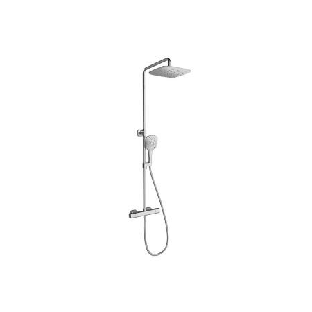 Ravak 10° Zestaw prysznicowy natynkowy z deszczownicą, chrom X070103