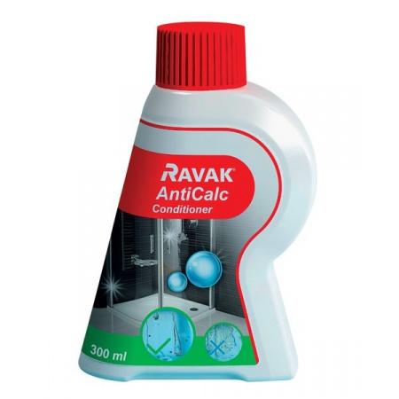 Ravak AntiCalc Conditioner Środek czystości 300 ml preparat do odnowienia i utrzymania powłoki ochronnej na powierzchni szkła, B32000000N