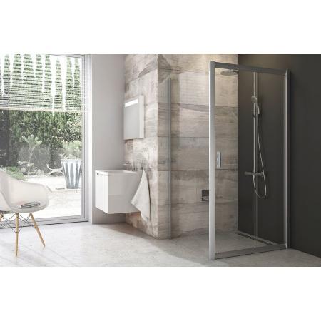 Ravak Blix BLDP2 Drzwi prysznicowe 100x190 cm z powłoką AntiCalc, profile białe szkło przezroczyste 0PVA0100Z1