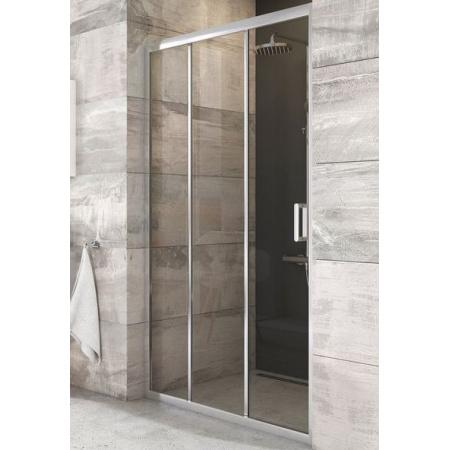 Ravak Blix BLDP3-100 Drzwi prysznicowe 100x190 cm, profile aluminium szkło przezroczyste X00HA0C00Z1
