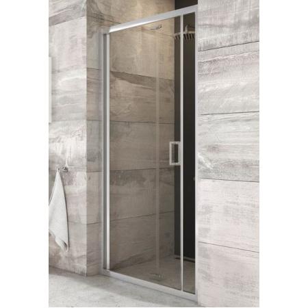 Ravak Blix BLDZ2-80 Drzwi prysznicowe 80x190 cm, profile aluminium szkło przezroczyste X01H40C00Z1
