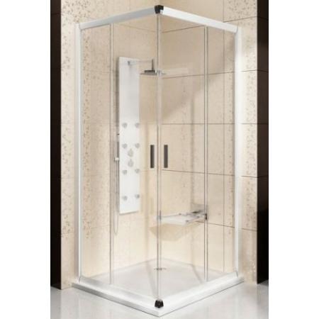 Ravak Blix BLCP4 Kabina prysznicowa prostokątna 80x80x190 cm z powłoką AntiCalc, profile białe szkło przezroczyste 1LV40100Z1