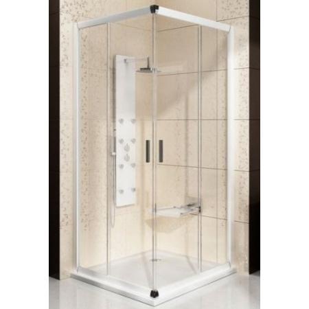 Ravak Blix BLCP4 Kabina prysznicowa prostokątna 90x90x190 cm z powłoką AntiCalc, profile białe szkło przezroczyste 1LV70100Z1