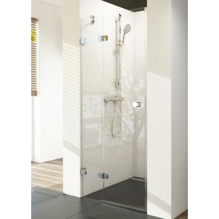 Ravak Brilliant BSD2-90L Drzwi prysznicowe 90x195 cm z powłoką AntiCalc lewe, profile chrom szkło przezroczyste 0UL7AA00Z1