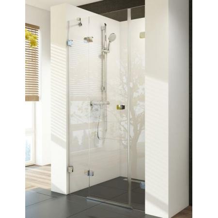 Ravak Brilliant BSD3-120L Drzwi prysznicowe 120x190 cm z powłoką AntiCalc lewe, profile chrom szkło przezroczyste 0ULG0A00Z1