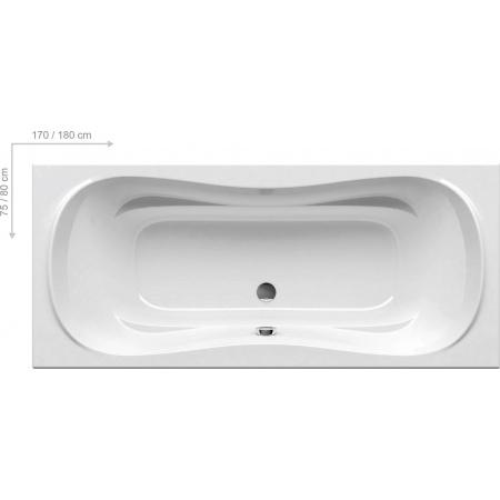 Ravak Inspiration Campanula II Wanna prostokątna 180x80x44 cm akrylowa, biała CB21000000
