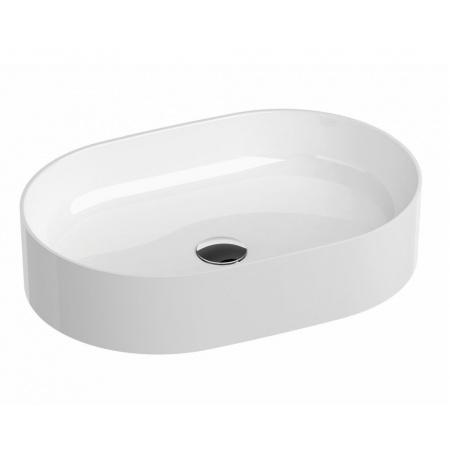 Ravak Ceramic Slim O Umywalka nablatowa 55x37 cm biała XJX01155001