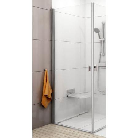 Ravak Chrome CRV1-80 Drzwi prysznicowe 80x195 cm z powłoką AntiCalc, profile aluminium szkło przezroczyste 1QV40C01Z1