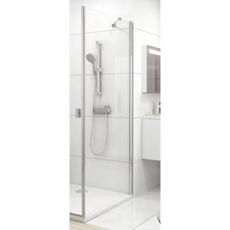 Ravak Chrome CPS-80 Ścianka prysznicowa stała 80x195 cm z powłoką AntiCalc, profile aluminium szkło przezroczyste 9QV40C00Z1