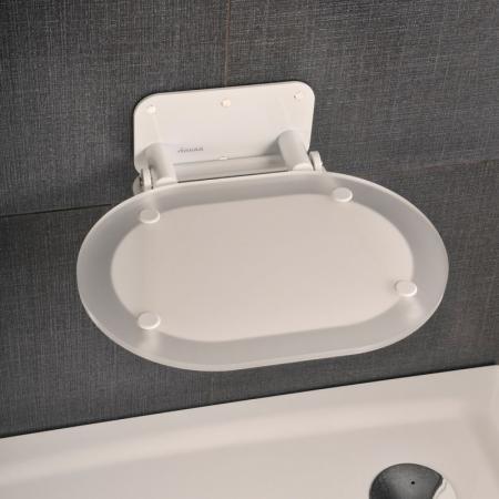 Ravak Chrome Siedzisko Chrome Clear/Biały 41x37,5 cm, biały, przezroczysty, chrom B8F0000028