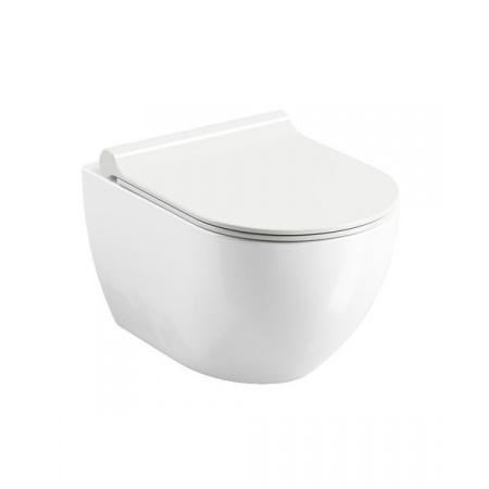 Ravak Uni Chrome Toaleta WC podwieszana 51x35,3 cm Rimoff bez kołnierza, biała X01535