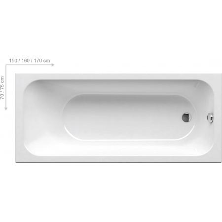 Ravak Inspiration Chrome Wanna prostokątna 170x75x43,5 cm akrylowa, biała C741000000
