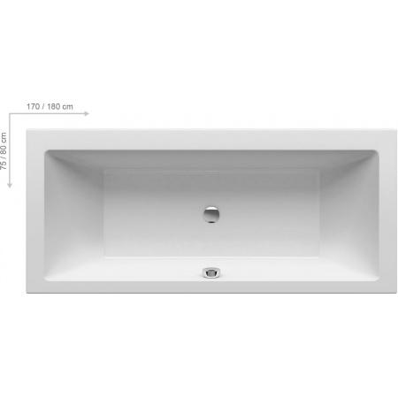Ravak Inspiration Formy 01 Wanna prostokątna 180x80x43,4 cm akrylowa, biała C881000000