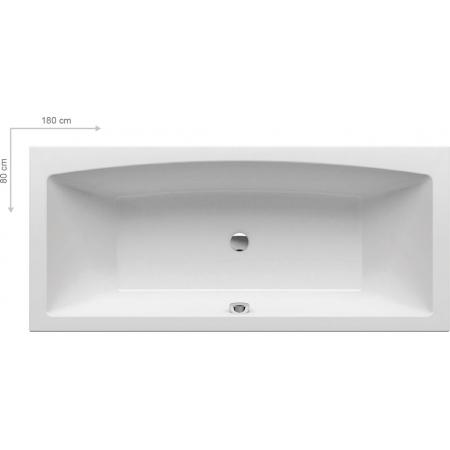 Ravak Inspiration Formy 02 Wanna prostokątna 180x80x43,4 cm akrylowa, biała C891000000