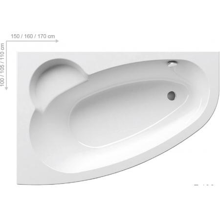 Ravak Inspiration Asymmetric Wanna narożna 170x110x47 cm akrylowa lewa, biała C481000000