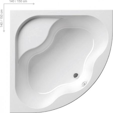 Ravak Inspiration Gentiana Wanna narożna 150x150x46 cm akrylowa, biała CG01000000