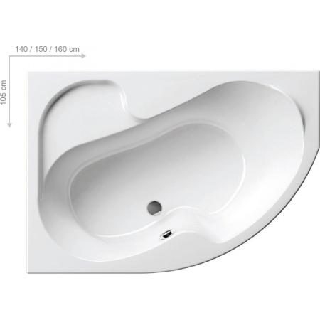 Ravak Rosa I Wanna narożna 160x105x47 cm akrylowa prawa, biała CL01000000