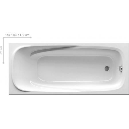 Ravak Inspiration Vanda II Wanna prostokątna 170x70x44 cm akrylowa, biała CP21000000