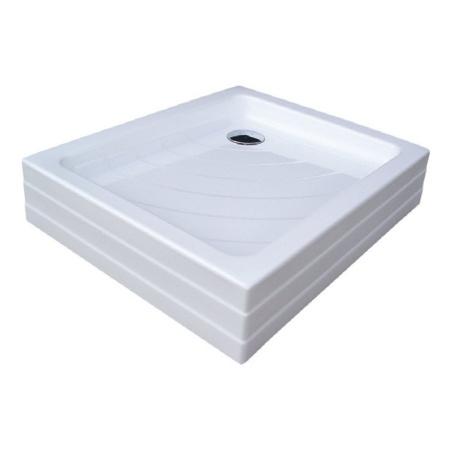 Ravak Kaskada Aneta PU Brodzik prostokątny 75,5x90x18,5 cm akrylowy, biały A003701120