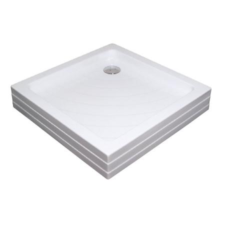 Ravak Kaskada Angela 80 PU Brodzik prostokątny 80x80x18,5 cm akrylowy, biały A004401120