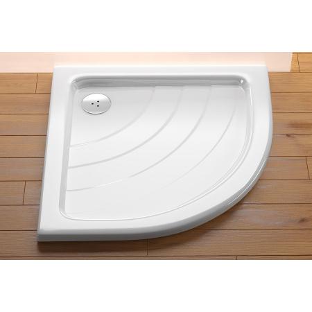 Ravak Kaskada Ronda 80 LA Brodzik półokrągły 80,5x80,5x10 cm akrylowy, biały A214001220