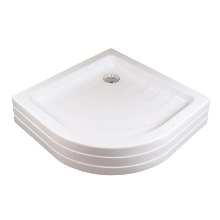 Ravak Kaskada Ronda 80 PU Brodzik półokrągły 80,5x80,5x10 cm akrylowy, biały A204001120