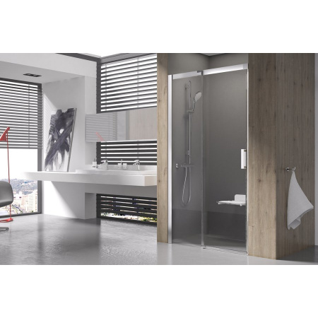 Ravak Matrix MSD2 Drzwi prysznicowe 100x195 cm prawe, profile aluminium szkło przezroczyste 0WPA0C00Z1
