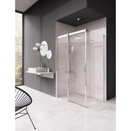 Ravak Matrix MSDPS Kabina prysznicowa prostokątna 100x100x195 cm lewa, profile aluminium szkło przezroczyste 0WLAAC00Z1
