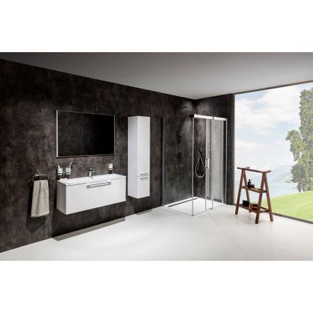 Ravak Matrix MSDPS Kabina prysznicowa prostokątna 100x100x195 cm prawa, profile aluminium szkło przezroczyste 0WPAAC00Z1