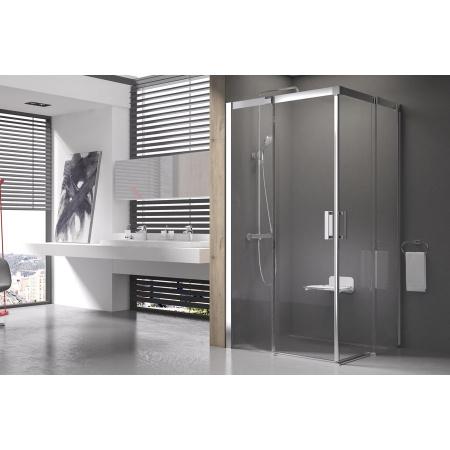 Ravak Matrix MSRV4 Kabina prysznicowa prostokątna 100x100x195 cm, profile aluminium szkło przezroczyste 1WVAAC00Z1