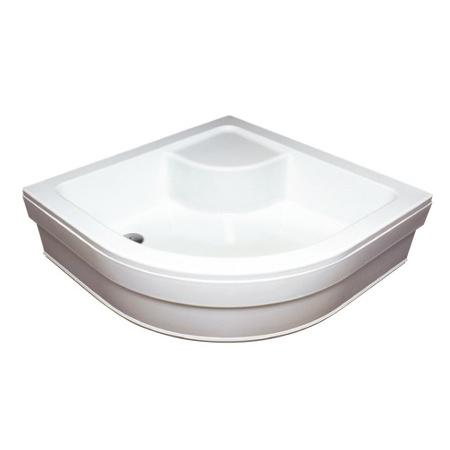 Ravak Kaskada Sabina 80 LA Brodzik półokrągły 80x80x27 cm akrylowy z siedziskiem, biały GPX11004