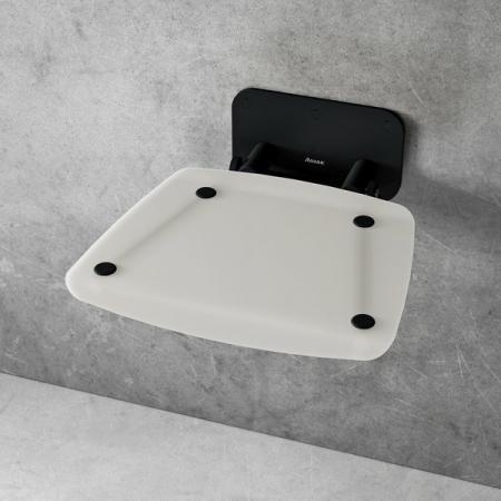 Ravak Ovo B II Siedzisko prysznicowe czarne/białe B8F0000060